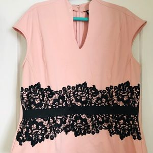 New York &Company Pink and Black Top